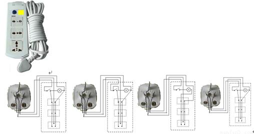 当把接线板的插头接上电源,指示灯不亮;闭合开关后指示灯才亮.