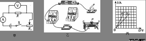 """要使电路中的电流增大,滑动变阻器的滑片应向_____(选填""""a""""或""""b"""")端"""