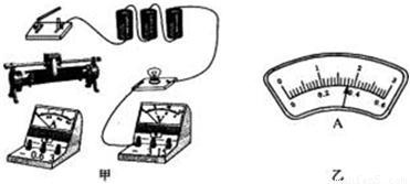. 1 请你用笔画线代替导线将如图 甲 所示的电路连接完整. 2 若将电路