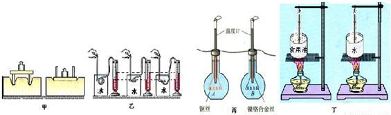 初中物理 题目详情  (1)图甲:完全相同的器材,因放置的差异导致效果的