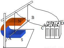 给你一个带铁芯的螺线管.蓄电池.开关.滑动变阻器.如图所示. 1 用笔画线代替导线.把它们连接起来.要求满足以下两点要求 ①组成一个可以改变电磁铁磁性强弱的电路