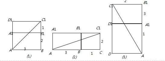 高中数学 题目详情      【解析】 试题分析:结合长方体的三种展开图
