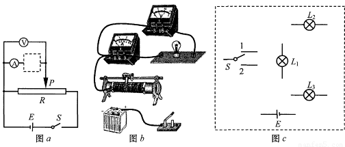 某同学利用图( a)所示的电路研究灯泡 l 1(6v,1.