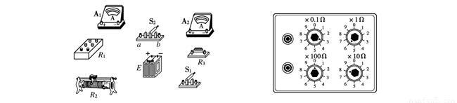 为了测定电流表a1的内阻.采用如图1所示的电路.其中:.