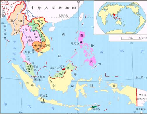 下列东南亚国家中,属于内陆国的是