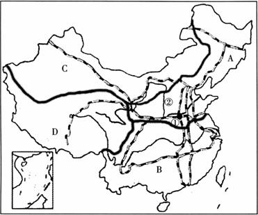 读中国四大地理分区图,根据所学的知识回答问题.图片
