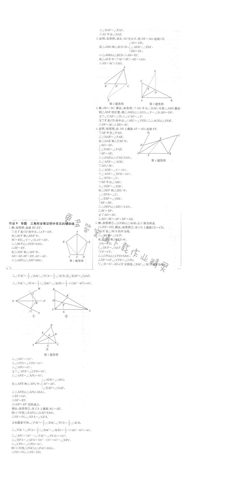 启东中学作业本八年级数学上册江苏版 作业9