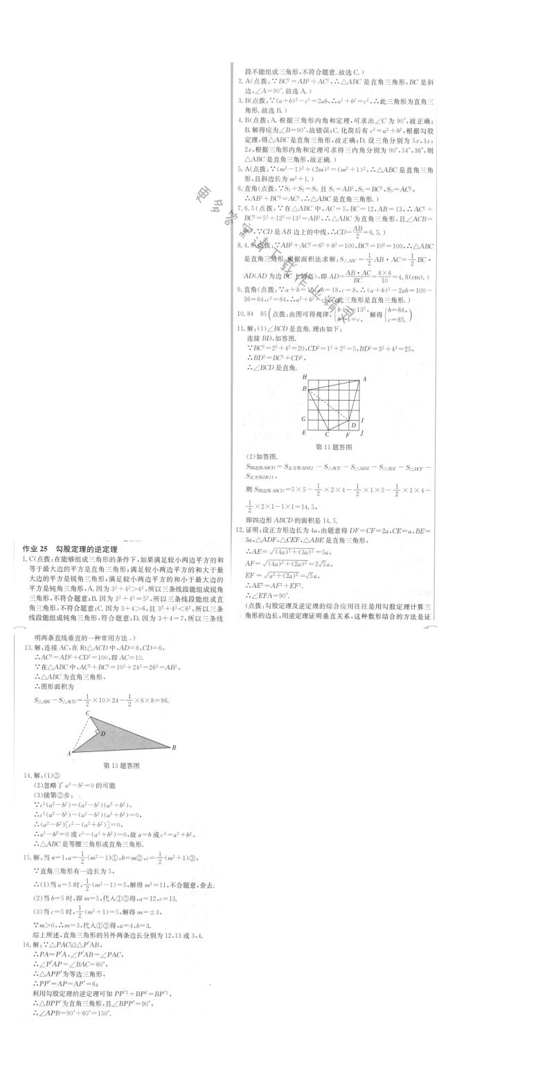 启东中学作业本八年级数学上册江苏版 作业25