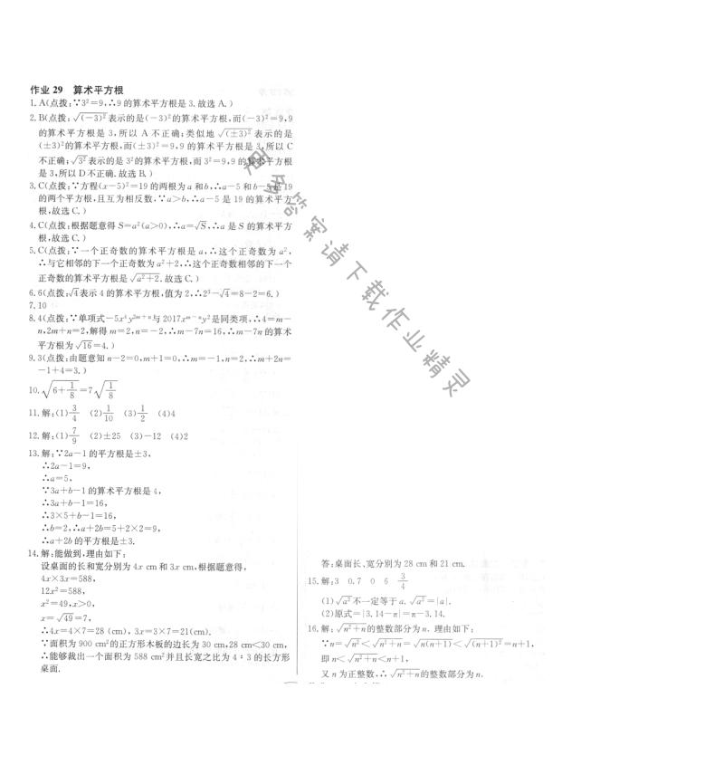 启东中学作业本八年级数学上册江苏版 作业29