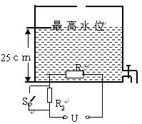 如图所示是电热水器原理的简易示意图